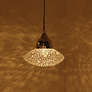 Jeweled Saucer Hanging Lamp