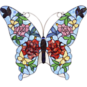 Blue Butterfly Window Panel