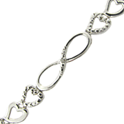 Heart figure 8 Bracelet With Diamond Accents