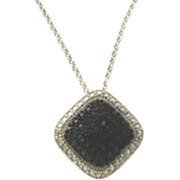 Black Diamond Rectangle Pendant