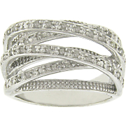 Diamond Crossroads Ring
