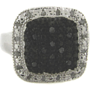 Black Diamond Rectangle Ring