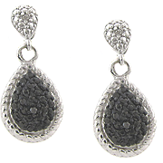 Blac Diamond Teardrop Earrings