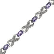 Amethyst X o Bracelet With Diamond Accents