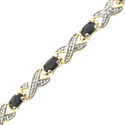 Sapphire X o Bracelet With Diamond Accents