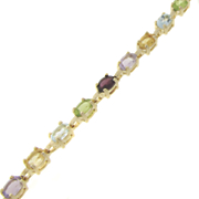Multi gemstone Oval Bracelet