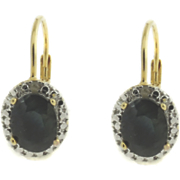 Sapphire And Diamond Leverback Earrings