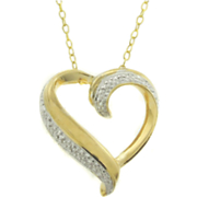 Heart Pendant With Diamond Accents