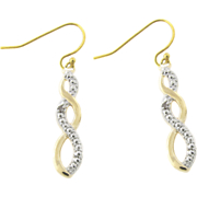 Twist Earrings With Diamonds