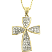 Diamond Cross Pendant Z