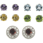 5 pair Interchangeable Gemstone Earrings