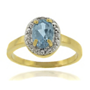 Birthstone Ring With Diamond Accents