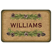 Personalized Lodge Pine Mat