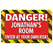Personalized Danger Sign Mat