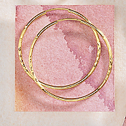 gold diamond cut wire hoops