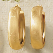 satin band hoop earrings