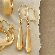 satin drop wire earrings
