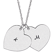 personalized heart duo initial pendant