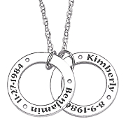 personalized circle charm pendant