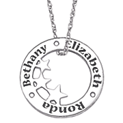personalized circle star pendant 5