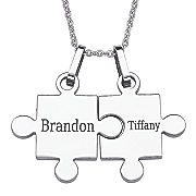 personalized puzzle piece pendant