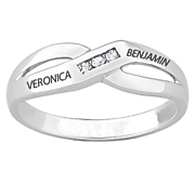 personalized women s diamond band