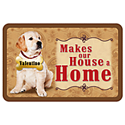 personalized house a home mat