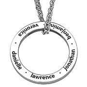 personalized family circle pendant