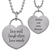 personalized live laugh love family pendant