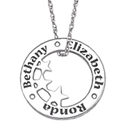 personalized circle star pendant 6