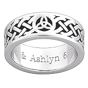 personalized celtic knot band