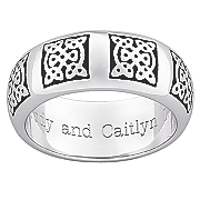 personalized celtic knot black band