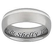 6mm titanium message band