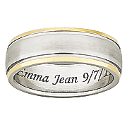 two tone titanium message band