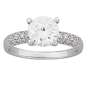 cubic zirconia solitaire engagement ring