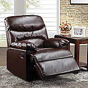 Cracked Bonded Leather Recliner