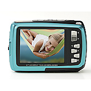 14mp front back view waterproof camera by polaroid