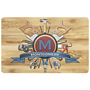 personalized handyman name monogram mat