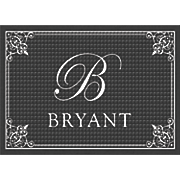 personalized script monogram mat