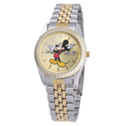 two tone personalized mickey or minnie watch