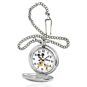 personalized silvertone disney pocket watch