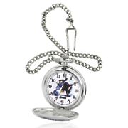 personalized silvertone marvel pocket watch