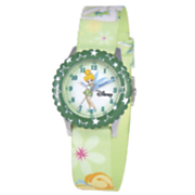 personalized green disney tinkerbell watch