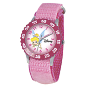 personalized pink disney tinkerbell watch