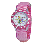 personalized hot pink disney tinkerbell watch