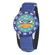 personalized blue personalized phineas ferb watch