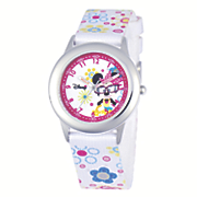 personalized white disney minnie watch