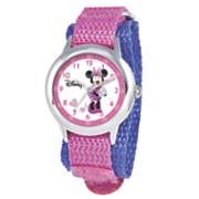personalized pink purple disney minnie watch