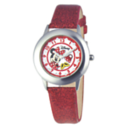 personalized red disney minnie watch