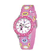personalized floral pink disney minnie watch